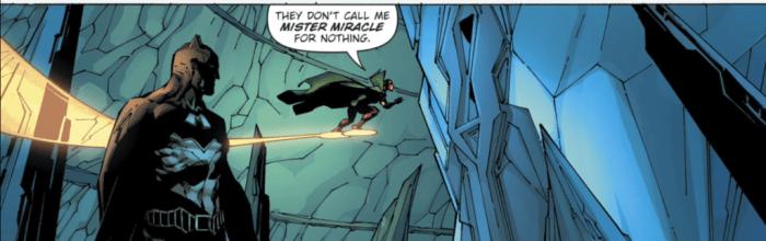 Mister Miracle unlocks Batmans secret room