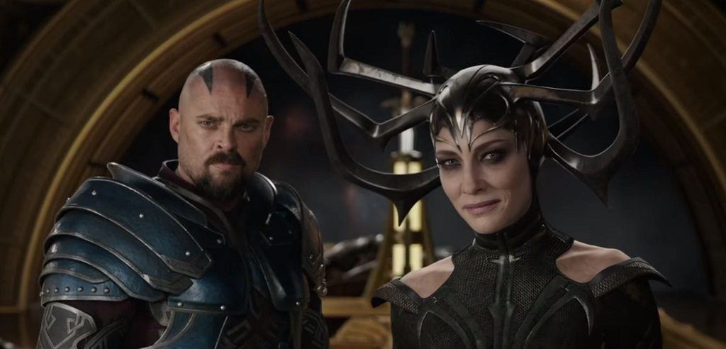 Skurge and Hela in Thor