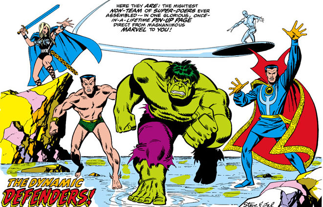 namor the sub-mariner with the defenders