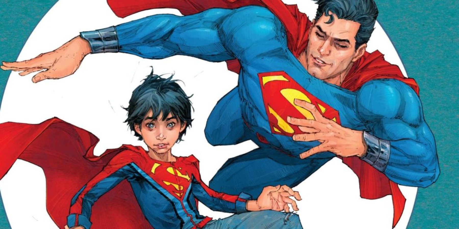 Superman and his son in DC Comics
