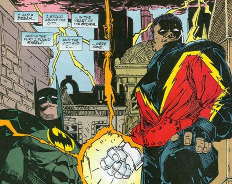 Black Lightning with Batman and the Outsiders