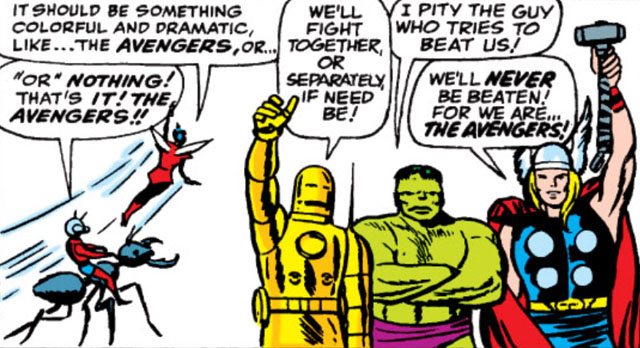 The naming of the Avengers