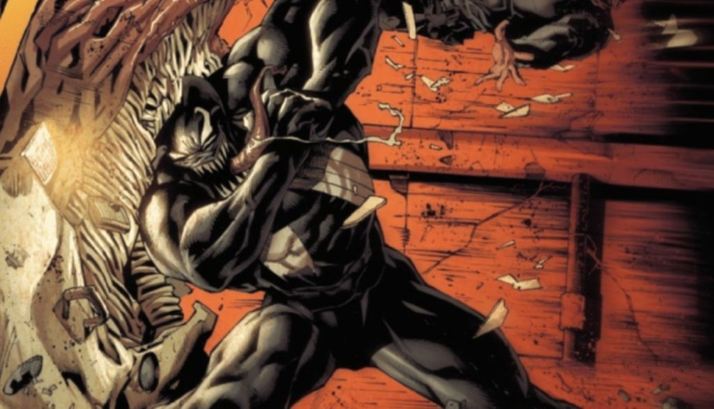 Venom fights a truck