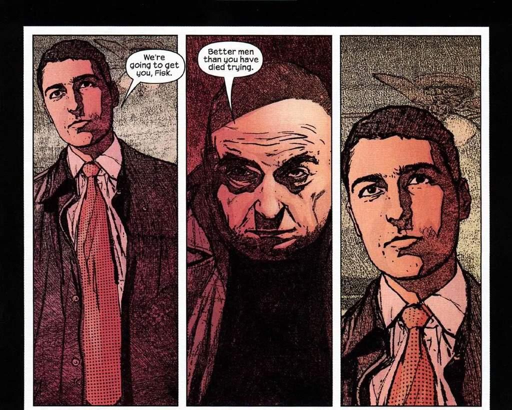 the Kingpin during Brian Michael Bendis' run on Daredevil comics