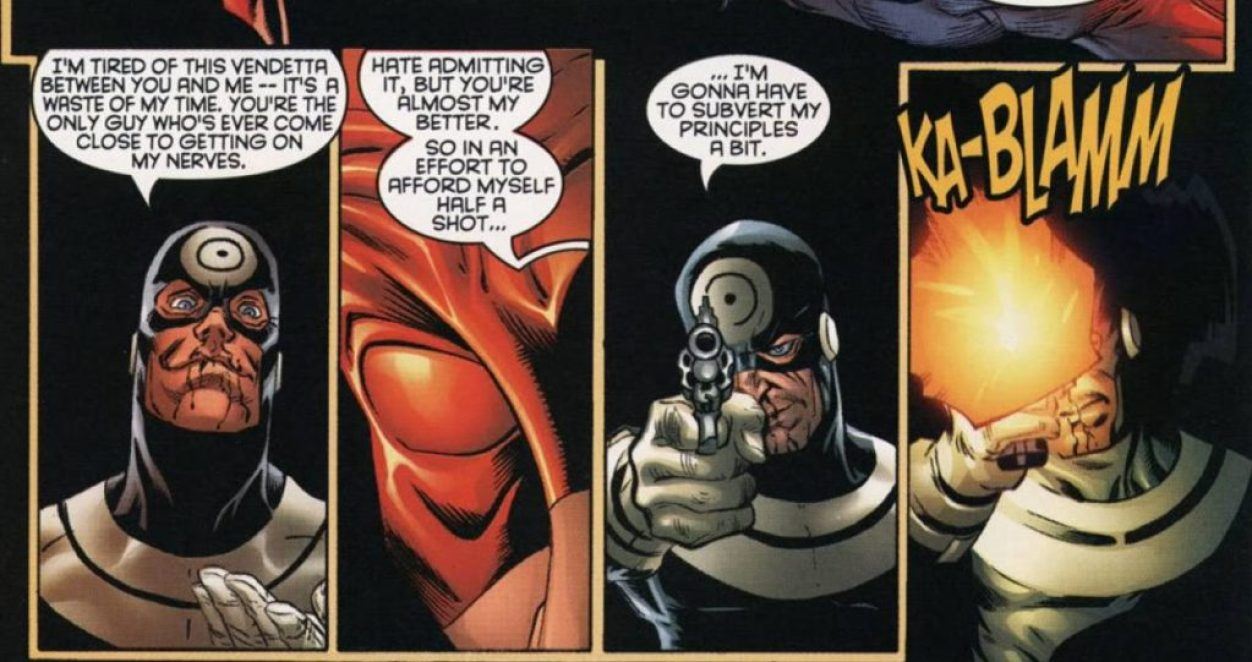 Bullseye shoots at Daredevil