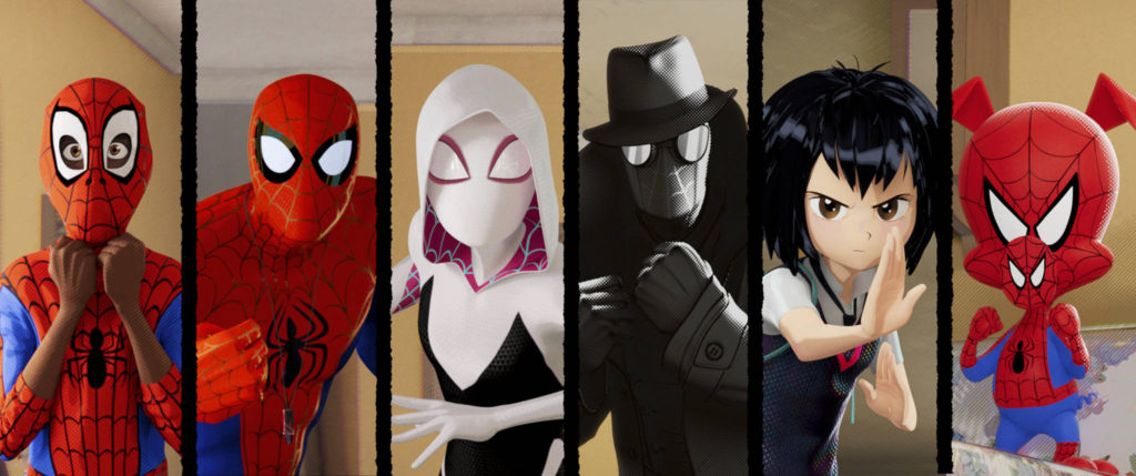 The Spiders of Into the Spider-Verse