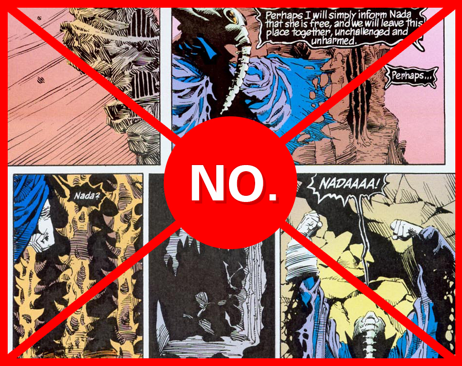 Sandman's Morpheus forgets poor Nada over and over