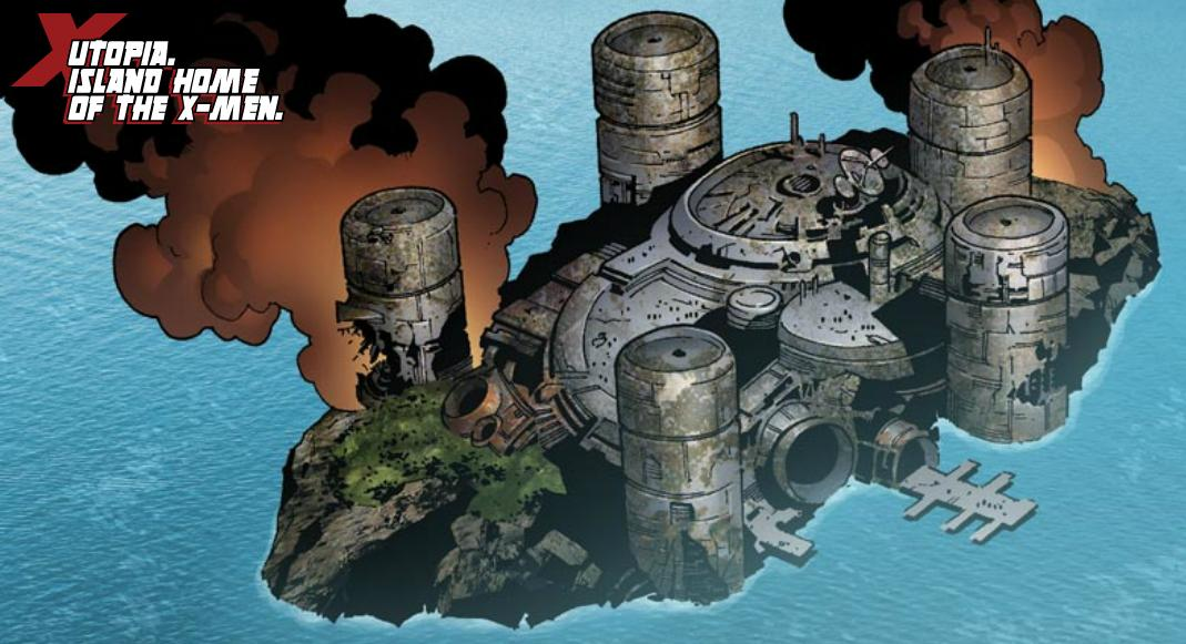 The X-Men settle in their island base known as Utopia