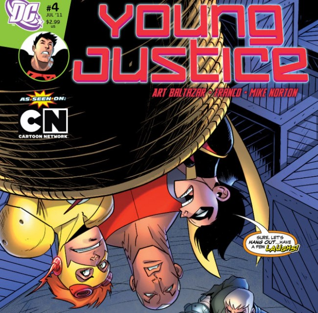 Young Justice comics like the Cartoon Network series