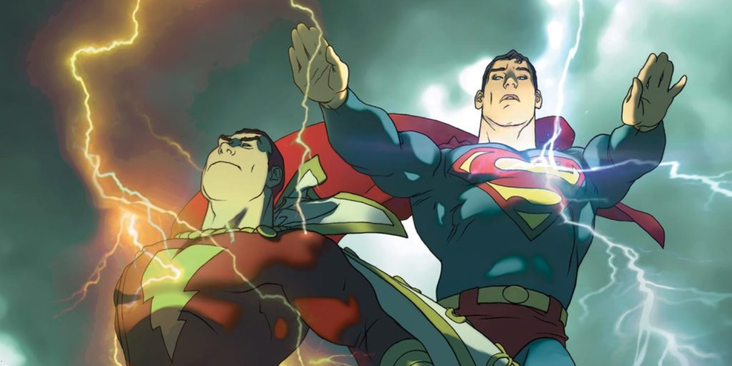 DC's Superman meeting Shazam comic!