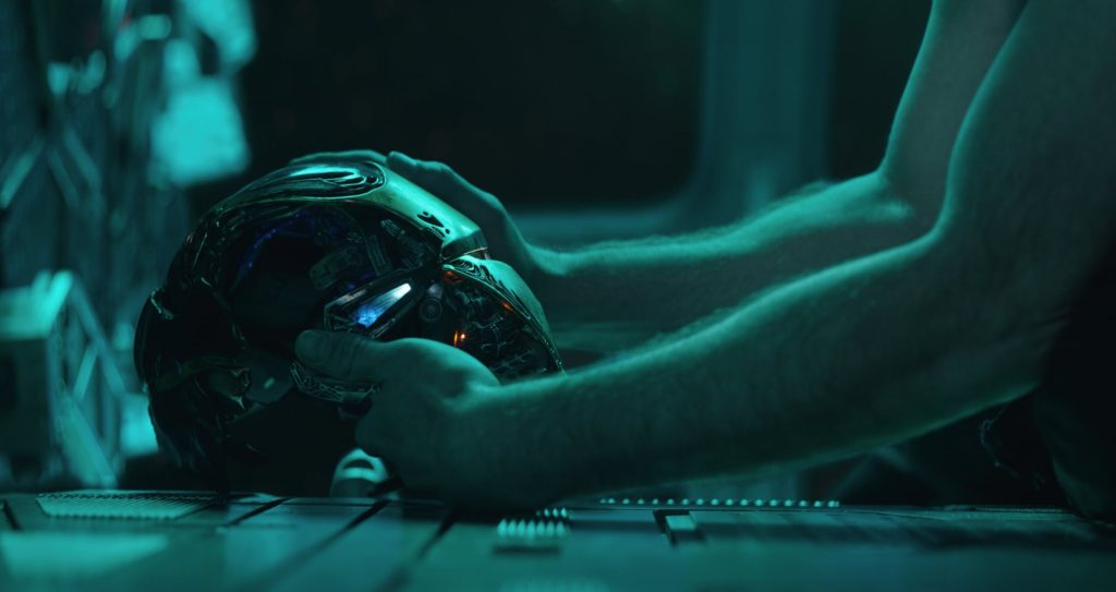Iron Man at the beginning of Avengers Endgame