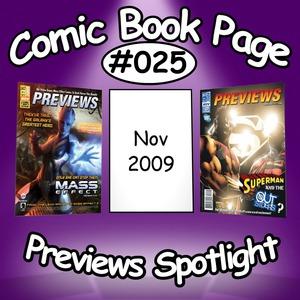 Comic Book Page: Previews Spotlight #025: 2009-11