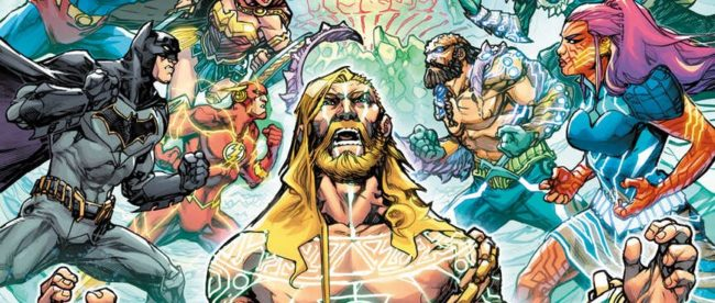 Justice League/Aquaman: Drowned Earth Cover