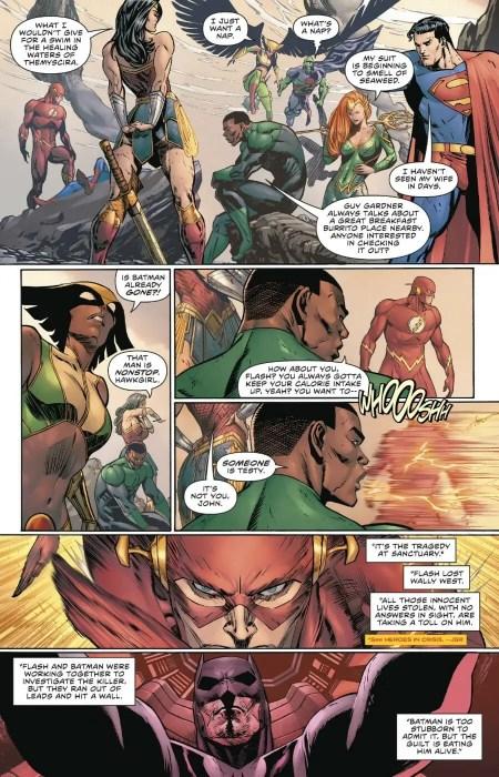 Batman #64 Justice League running thin