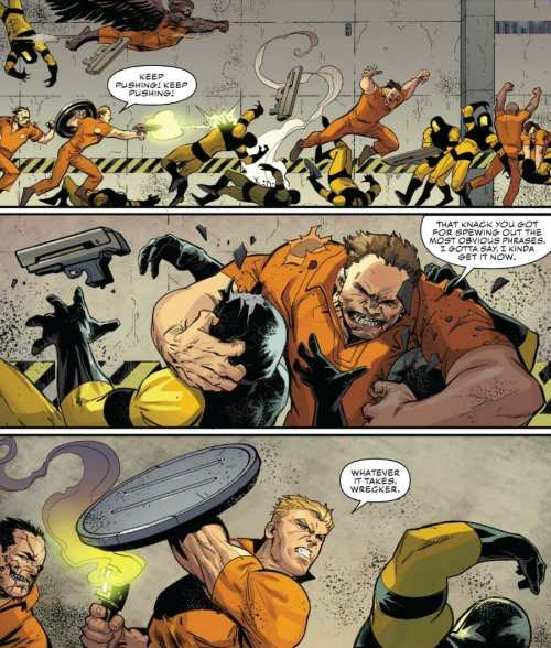Captain America #11 Steve Rogers Leads Prison Break Moment