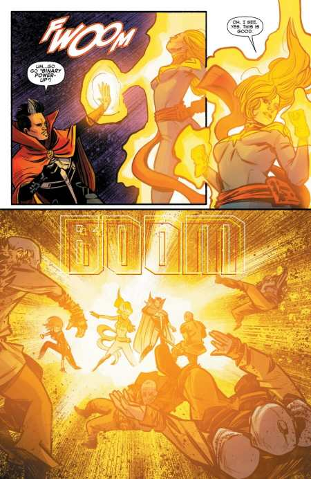 Captain Marvel #7 Binary Power-Up Moment