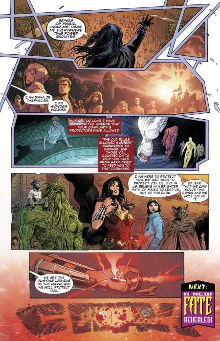 Justice League Dark #12 Wonder Woman Leader Moment