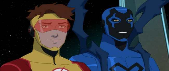 Young Justice Outsiders Episode 17 First Impression Kid Flash Blue Beetle