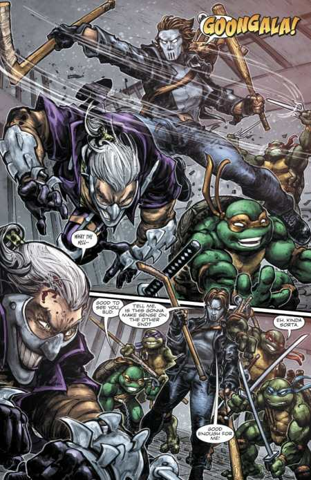 Batman/Teenage Mutant Ninja Turtles #4 Highlight