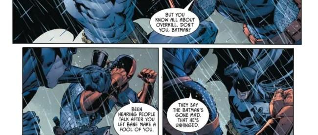 Batman fights Deathstroke