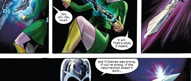 Magneto Creates Cerebro Sword