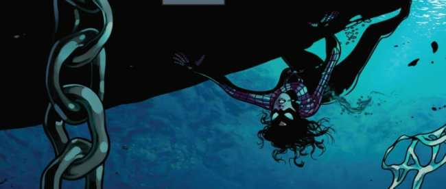 Spider-Woman #1 Underwater