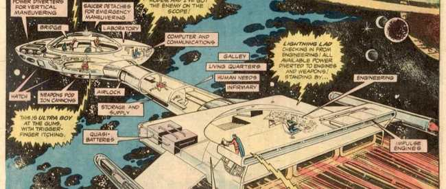 6 Superboy & LSH 219 Spaceship (1976)