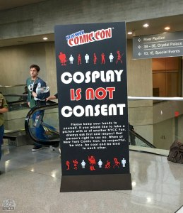 Cosplay is not consent sign from NYCC