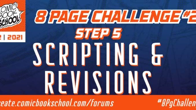 Header for Step 5 Scripting Comics