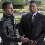 Stephen Amell and David Ramsey