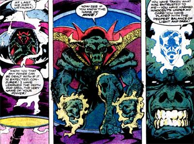 Stephen Strange utilisant le corps de Rintrah