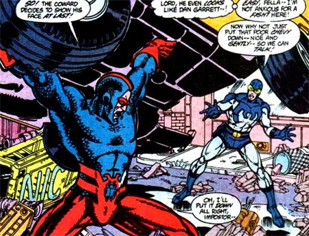 Les deux Blue Beetle face à face...