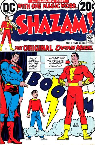Shazam #1 (1973), l'arrivée de Captain Marvel chez DC, présénté (un comble) par Superman !