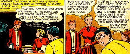 Oliver Queen arrive dans la classe de Clark Kent