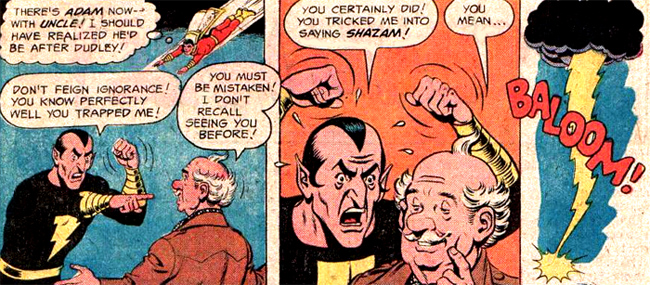 Black Adam se fait piéger par l'oncle de Billy.