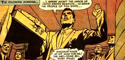 Bruce Wayne prête serment et devient... le Sénateur Wayne !