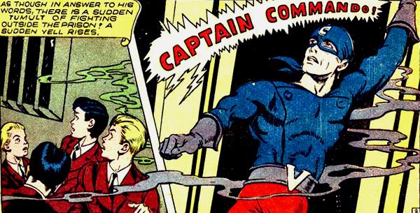 L'arrivée de Captain Commando en sauveur...