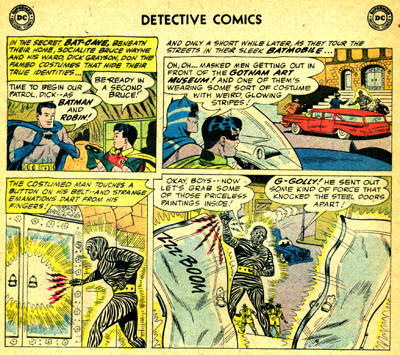 Première confrontation entre Batman et Zebra-Batman