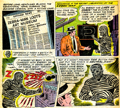 Zebra-Man explique la source de ses pouvoirs...