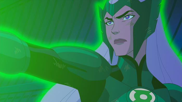Lauren Montgomery focused on the big picture in directing Green Lantern: First Flight, but she take the time to do the character design on Boodikka (voiced by Tricia Helfer) for the all-new DC Universe animated original movie set for distribution July 28, 2009 by Warner Home Video.