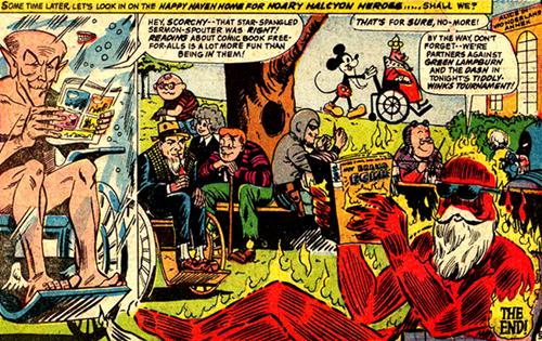 La maison de retraite des vieux héros de BD, Batman, Dick Tracy, Archie et quelques autres inclus...