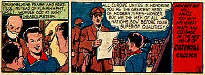 Wonder Boy décoré par les forces européennes...