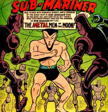 Namor contre les Metal Men of the Moon...