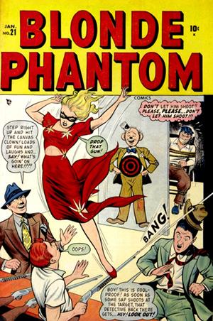 Aucun signe de la présence de Sub-Mariner dans ce numéro de Blonde Phantom. A l'époque, il est en perte de vitesse...