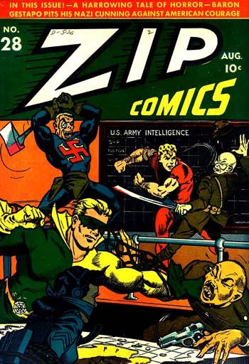 La couverture de Zip Comics #28