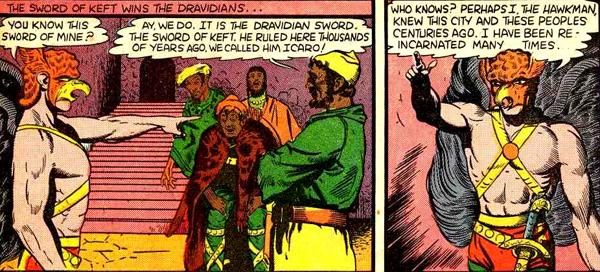 Hawkman déduit qu'il a été Icaro dans une autre vie...