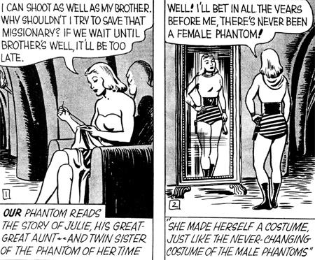 Julie devient à son tour le Phantom. Parce que Fantômette aurait prété à confusion...