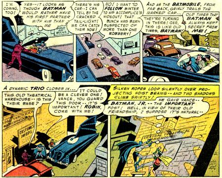 John Vance prend place à bord de la Batmobile. Mais est-ce que ça ne fait pas un sidekick de trop pour Batman ?