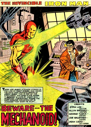 Tony Stark en train de perfectionner son armure...