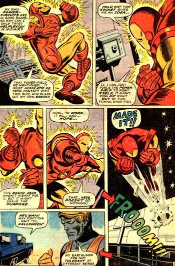Iron Man arrive à s'évader... Tandis que le Mechanoid échoue à l'auto-stop...